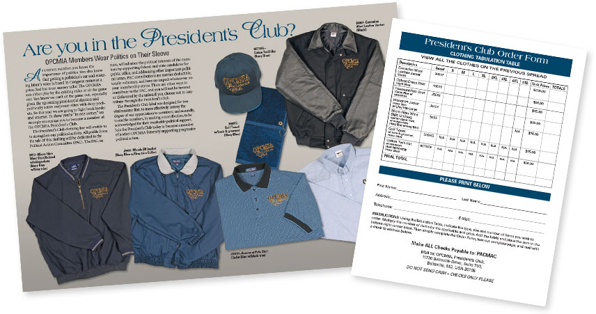 President's Club Brochure and Order Form