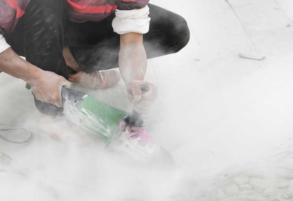 Grinding Concrete Silica Dust