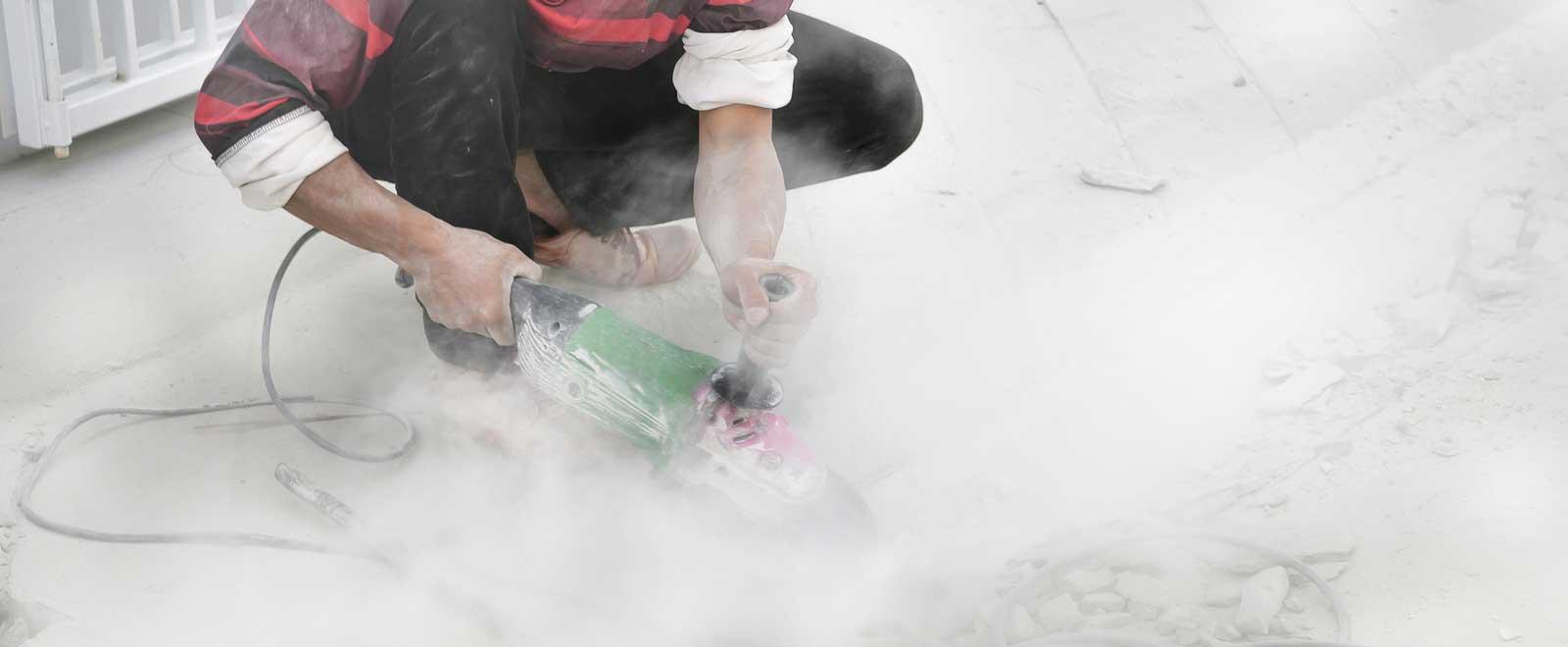 Grinding Concrete Silica Dust