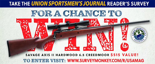 WIN a Savage rifle: Take Union Sportsmen's Journal survey